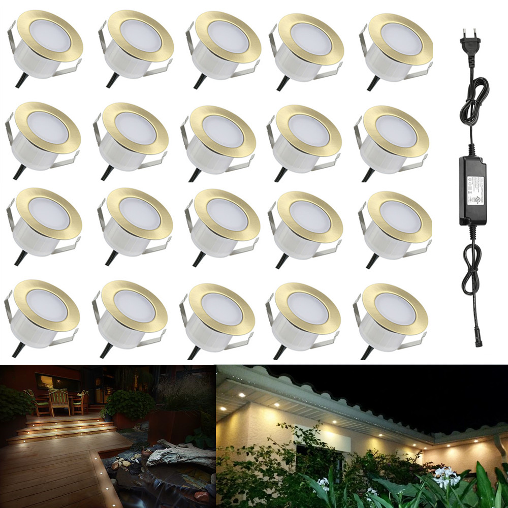 Led Underground Lamps Special Section 20pcs/lot 47mm Brass Warm White Outdoor Yard Terrace Kickboard Driveway Recessed Kitchen Led Deck Rail Step Stair Soffit Lights Ample Supply And Prompt Delivery