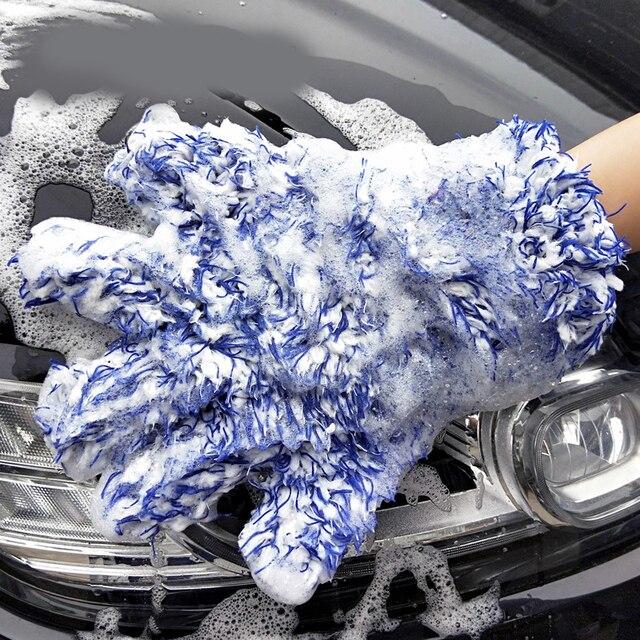 Guante de limpieza de coche de alta densidad microfibra limpiador de lavado de coches guante de máxima absorción para el cuidado del coche 30x27,5 cm