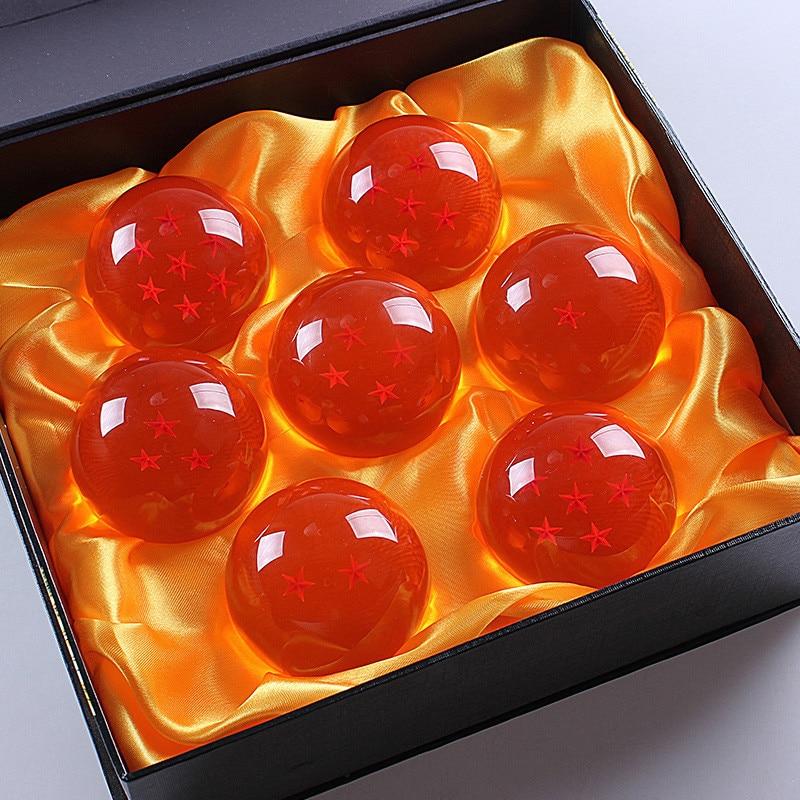 Dragon Ball Crystal Balls 7CM 7.5CM 7 PCS/Set PVC Action Figure Toy High Quality New In Original Gift Box