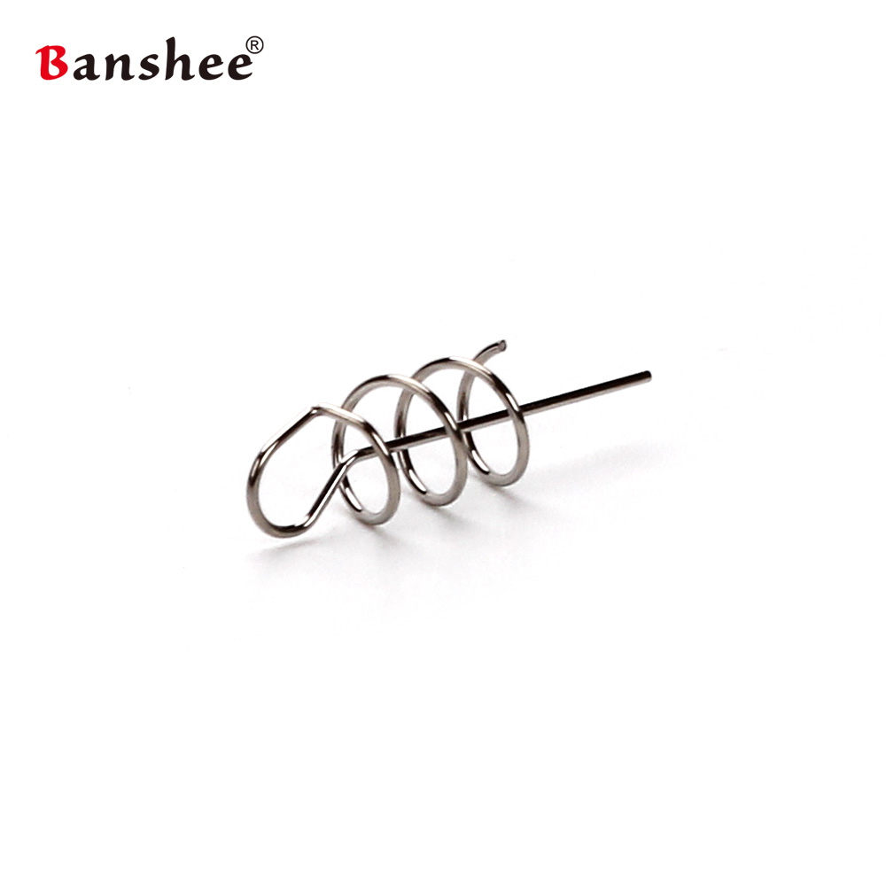 50pcs/lot Fishing Lure MJR01 Soft bait swimbait Pin Spring Hook Fixed Latch Needle Spiral Steel Wire for Worm Grub texas rig fishing lure kit soft worm bait jig head worm hook weight lead sinker single tail grub 31 pieces suit for texas rig