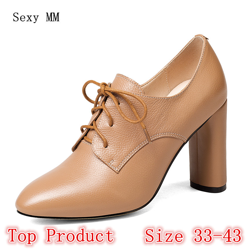 Genuine Leather High Heels Women Pumps Office High Heel Shoes Stiletto Woman Party Shoes Kitten Heel Plus Size 33 - 40 41 42 43 cusp office lady glitter shoes fashion shoes woman genuine leather stiletto heels sexy women pumps ankle wrap winkle picker