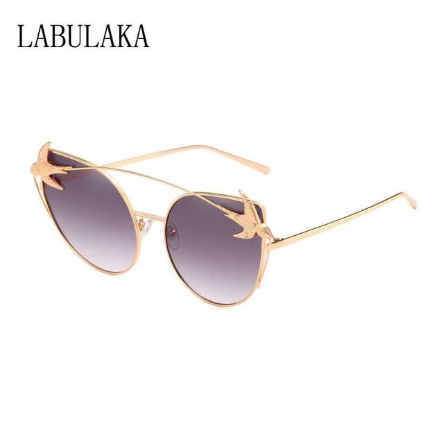 217101db32f6 Harajuku Sunglasses 2018 Women Cat Eye Sun glasses Brand Designer Bird  Metal Frame Glasses Fashion Ladies Gradient Lens Shades