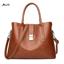New Style Brown Handbags Women Bags Leather Female Shoulder Purse Ladies Black Tote Bag Large Capacity Shopping