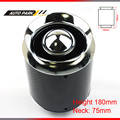 180mm height car part universal carbon fiber turbo high flow racing cold air intake washable mushroom head 75mm air filter