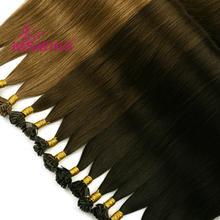 K.S парики 1 г/локон 24 ''Прямые Человеческие волосы Remy капсулы кератин предварительно скрепленные двойной нарисованный плоский наконечник для наращивания волос 50 г/упак