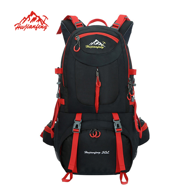 50L Outdoor Bag Men Camping Bag Waterproof women Hiking Backpack Travel equipment Sport Bag Climbing Rucksack Big Load mochila waterproof travel hiking backpack 50l sports bag for women men outdoor camping climbing bag mountaineering rucksack