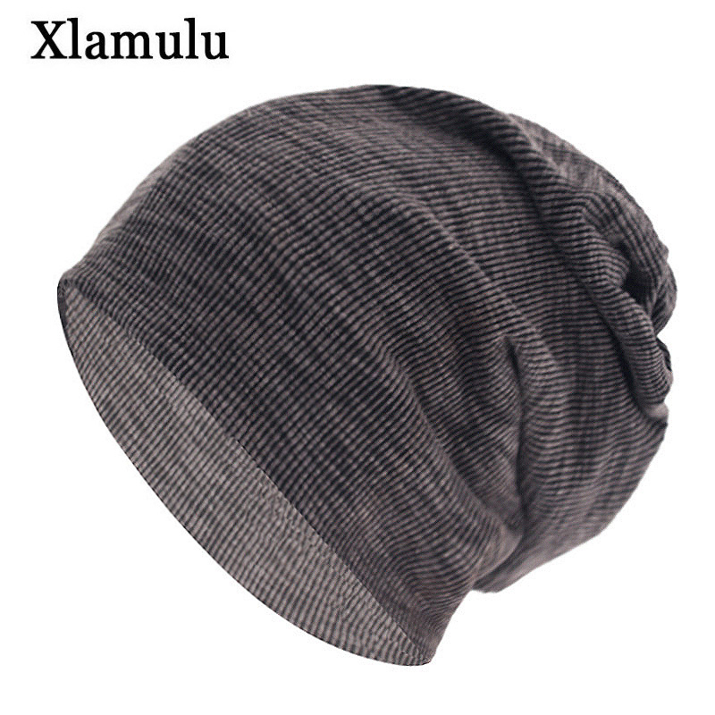 Xlamulu Fashion   Skullies     Beanies   Women Scarf Winter Hats For Men Knitted Hat Ring Male Caps Soft Gorros Bonnet Female   Beanie   Hat
