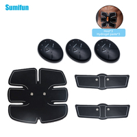 1 Set Slim Fit Wireless Abdominal Muscle Trainer Electric Pulse Treatment Massager Pad Gym Abs Slimmer