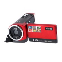 "EDT-HDV-107 Digital Video Camcorder Camera HD 720P 16MP DVR 2.7"" TFT LCD Screen 16x ZOOM Red"