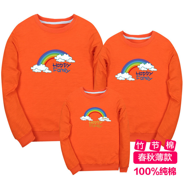 Mother Kids Children's Clothing Family Matching Outfits Cotton Hoodies Sweatshirts Giraffe Fashion Full Sleeve for Mom dad baby