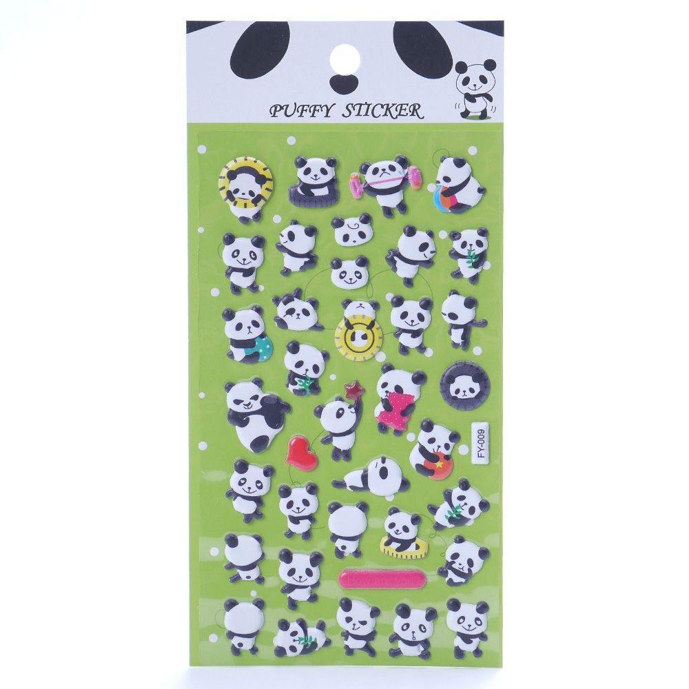 1pc Cute Panda 3D Bubble Sticker Decoration Decal DIY Diary Album Scrapbooking Kawaii Stationery Stationery Set