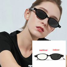 2291305c3e588 Novo Design de moda óculos de Sol de Transição Photochromic Óculos de  Leitura Leitor de Mulheres Estilo Punk Pequeno Quadro Ócul.