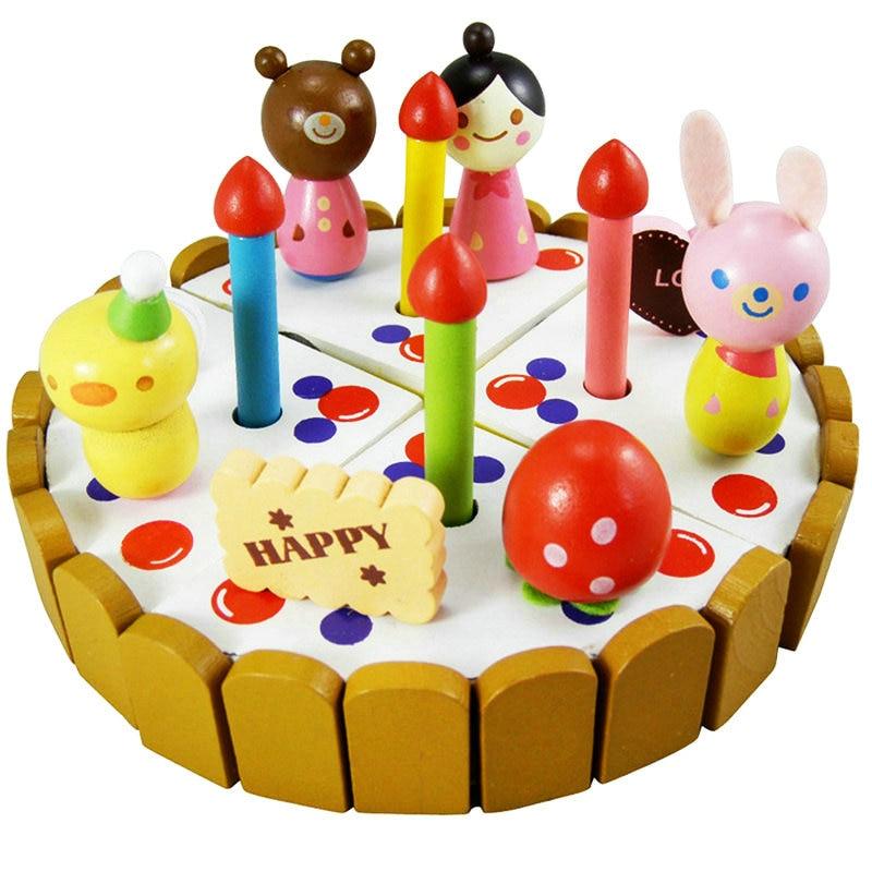 Exempt Postage Simulation Toys Children Play Set Fruit Birthday Cake