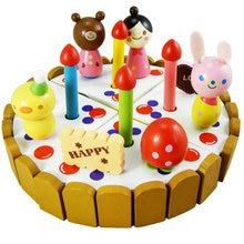 Exempt postage simulation toys children play set fruit birthday cake diy simulation fruit cake birthday toys set 54pcs