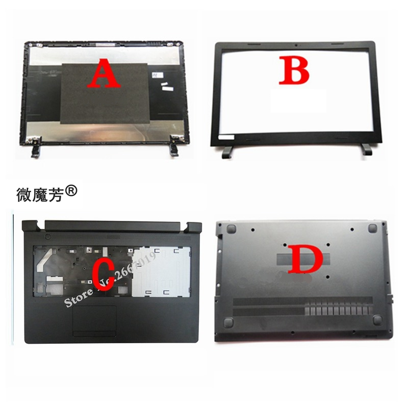 New Lcd Back Cover For Lenovo For Ideapad 100-15 100-15IBY LCD Screen Bezel/Palmrest COVER Upper Case