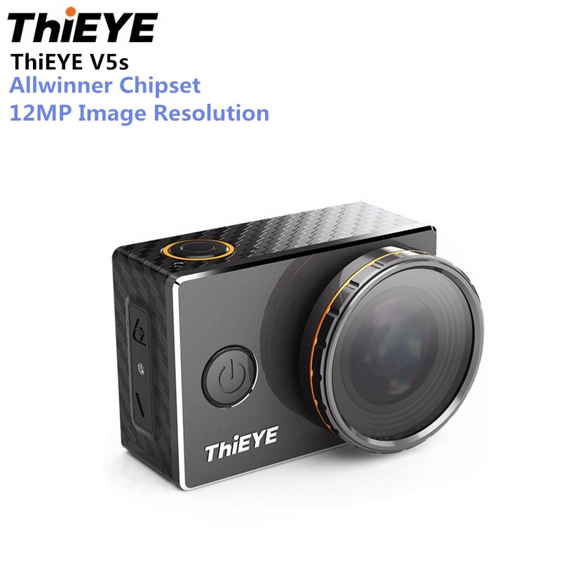 ThiEYE V5s Sport Action Camera 4K 2 Inch Display Waterproof Action Camera 1080P 170 Degree Wide Viewing Angle Sport Camera f88 action camera black