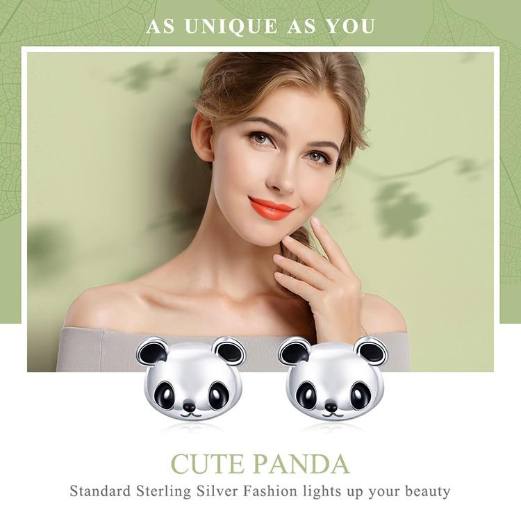HTB16bwogyQnBKNjSZFmq6AApVXaS BAMOER Genuine 100% 925 Sterling Silver Animal Collection Cute Panda Stud Earrings for Women Sterling Silver Jewelry SCE386