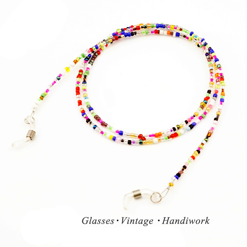 5Pc Colours Clear Beaded Eyewear Cord Reading Glass Neck Strap Eyeglass Holder Cord Glas ...