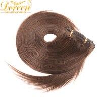 Doreen 4 Chocolate Brown Malaysia Remy Human Hair Full Head Set 120G 7 Pecs 14 26