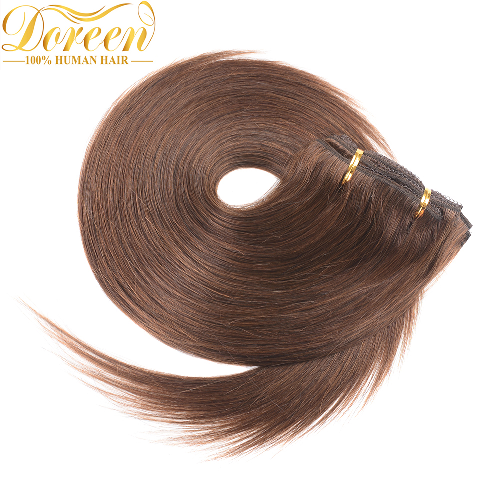 Doreen #1 #1B #2 #4 #8 Machine Made Remy Long Inch Human Hair Extensions Clip In Full Head Set 16