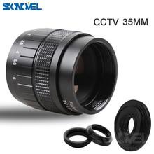 Фуцзянь 35 мм f1.7 cc ТВ фильм объектив + C крепление + Macro Ring Для Canon EOS M m2 m3 M5 M6 M10 беззеркальных Камера