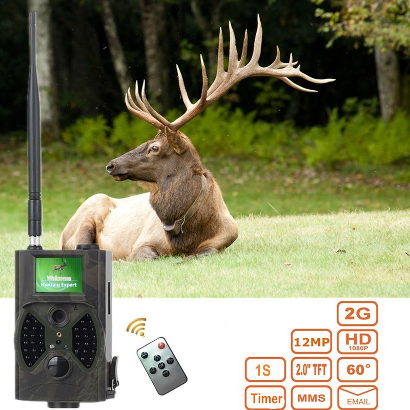 MMS SMS GSM Hunting Trap Camera HC-300M Night Vision Scouting Trail Camera 2G Infrared Wild Cam HC300M 12mp trail camera gsm mms gprs sms scouting infrared wildlife hunting camera hd digital infrared hunting camera