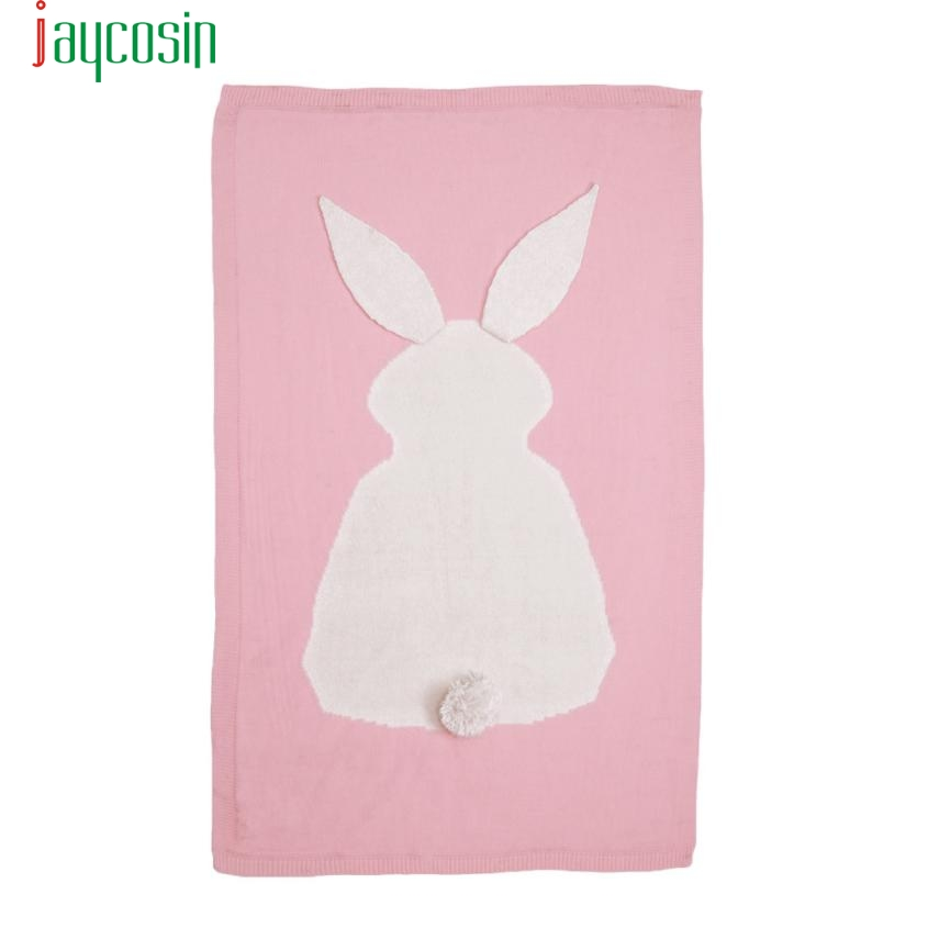 Kids Rabbit Knitting Blanket Bedding Quilt Play Blanket Animal Kids Throw Blanket Crib Wrap Blanket F2272