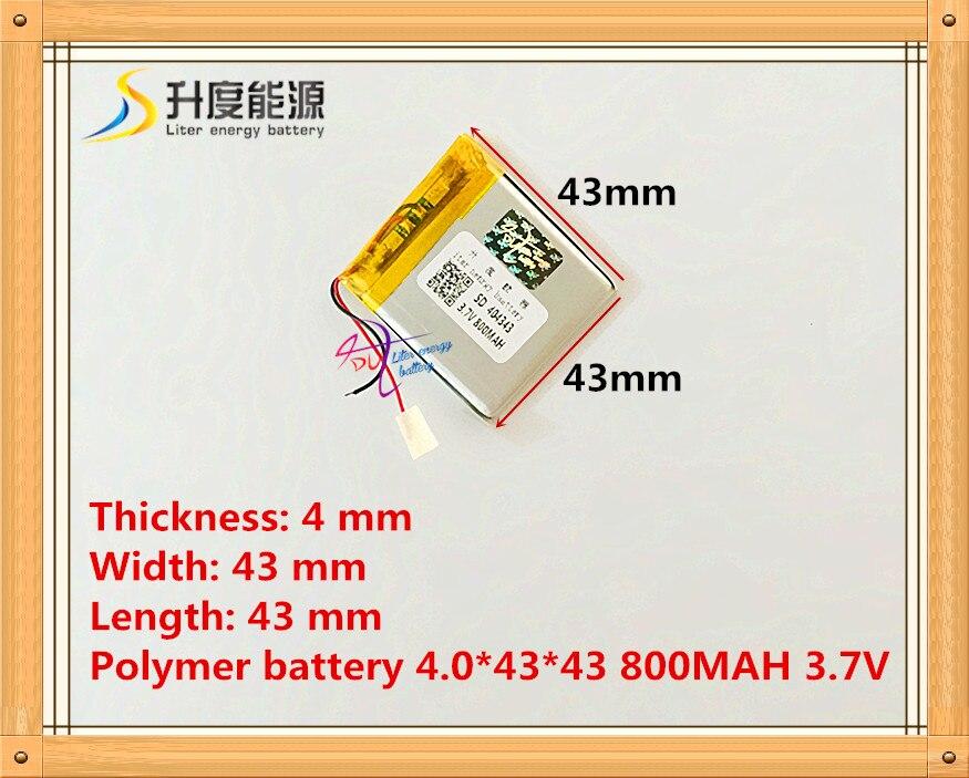 404343 044343 800 mah 3.7 V lithium-ion polymère batterie MP3 MP4 GPS qualité marchandises qualité de CE FCC ROHS certification autorité