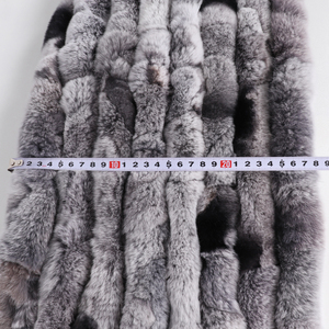 Image 5 - חדש נשים ארוך סגנון אמיתי רקס ארנב פרווה צעיף רקס ארנב פרווה חם רך עיוות באיכות אופנה רקס ארנב פרווה ציצית צעיף צעיפים