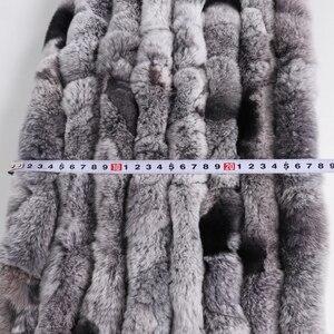 Image 5 - Neue Frauen Lange Stil Echt Rex Kaninchen Pelz Schal Rex Kaninchen Fell Warme Weiche Warp Qualität Mode Rex Kaninchen Pelz quaste Schal Schals