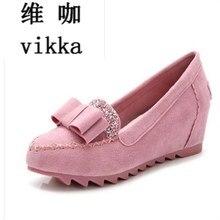 Nouvellement Femmes de Véritable Fourrure Mocassins Intérieure Augmenter les chaussures Simples Mocassins Chaussures pour Femme Enceinte Anti-Slip En Cuir Véritable chaussures