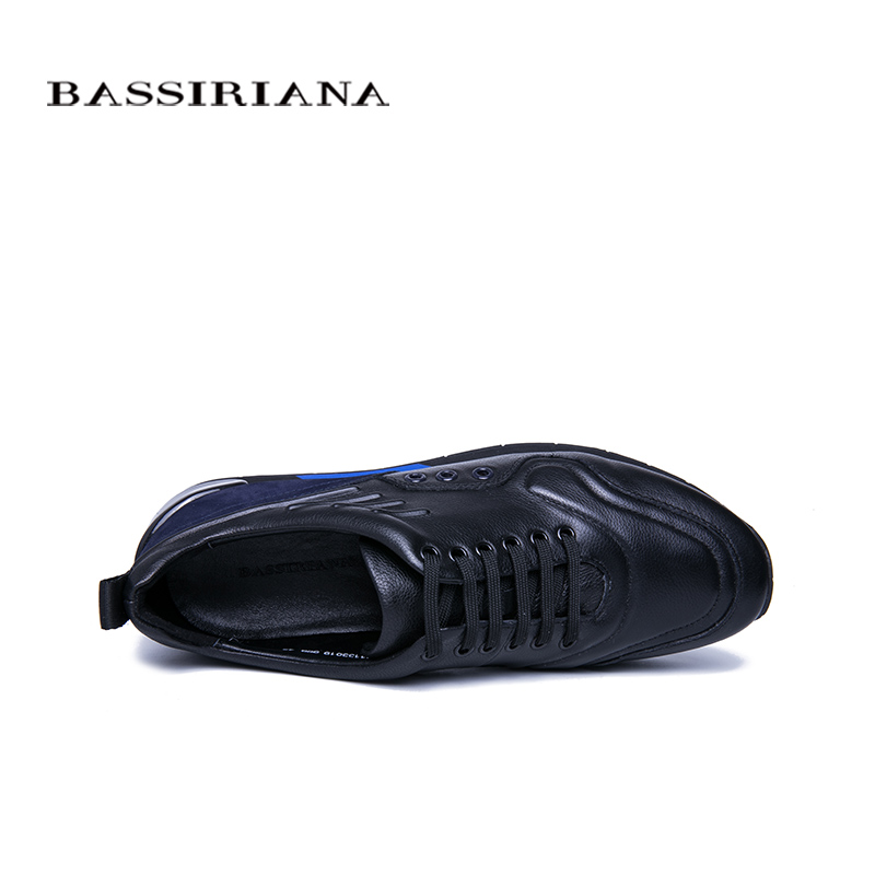 Bassiriana Herbst Leder Bequem Frühling 2019 Männer Schuhe upnatural Neue Spitze Atmungsaktiv Casual Und Black Sport rIrCfS
