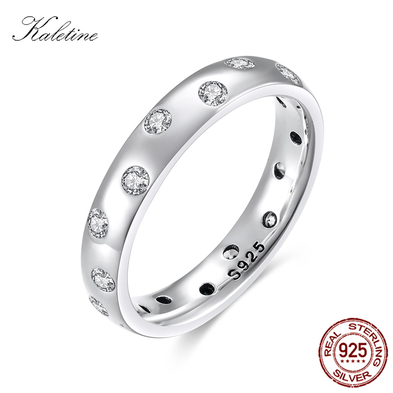 2142527e0cab Caletina de lujo Droplets mujeres anillo de burbuja Sterling 925 anillos de  plata Zirconia cúbica boda joyería de plata Envío Directo KLTR108