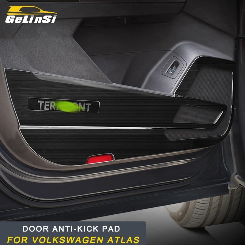 GELINSI Stainless steel Door anti kick pad For Volkswagen 2018 2017 ATLAS Auto Car