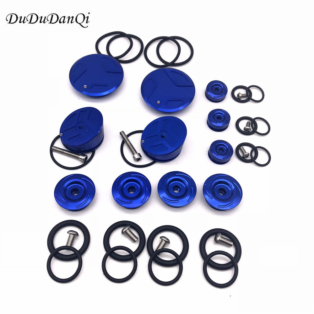 Motorcycle CNC Aluminum Frame Hole Plug Cap Cover Set for 2013 2018 BMW R1200GS R1200RT R