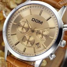 2016 дом часы мужчины люксовый бренд спорт военные часы натуральная кожа кварцевые часы 200 м водонепроницаемый relogio masculino