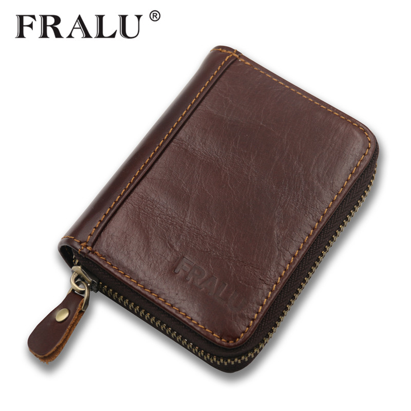FRALU top quality cow crazy horse genuine leather men wallets for men male purse luxury carteira masculina free shipping cowather top cow crazy horse genuine luxury leather men wallets for men male purse vintage carteira masculina free shipping