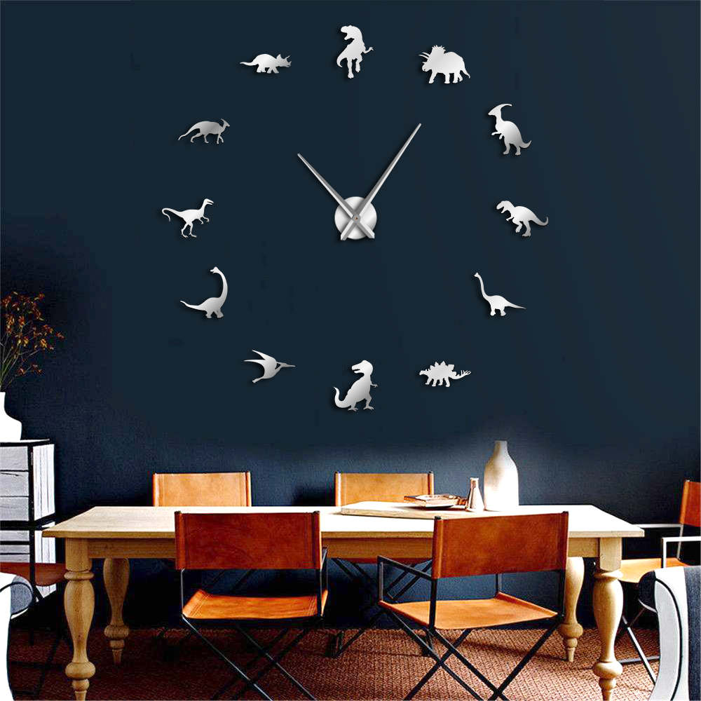 Frameless Dinosaurs Wall Clock 1