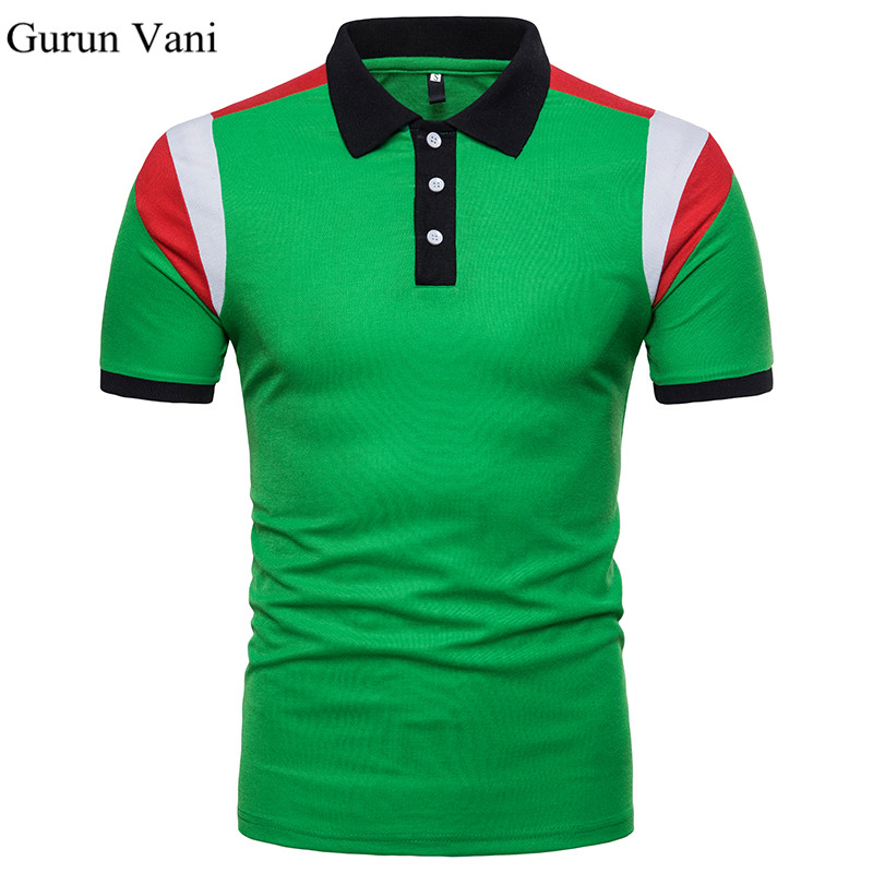 Casual   POLO   Shirt Male Summer Fashion New Men's Green and White Stitching Cotton Short Sleeved   Polo   Shirt Slim Men 5XL 6XL