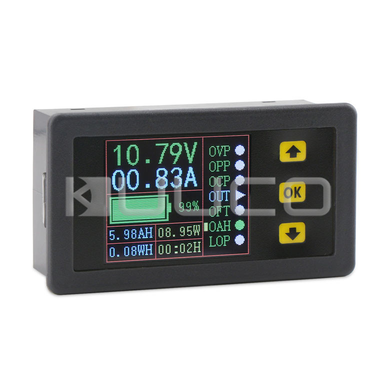 Multimeter Mini Digital Voltage/Current/Charge and Discharge Capacity/Time/Power Display Panel Meter/Multifunction Digital Meter dc 4 30v digital display usb charger voltage multimeter battery test doctor mobile power detector current meters