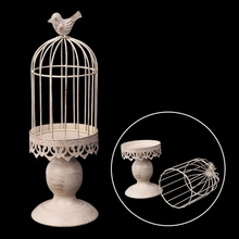 Creative Decorative Lantern Candle Holder Bird Cage Candlestick Iron Candlestick Ornaments For Home