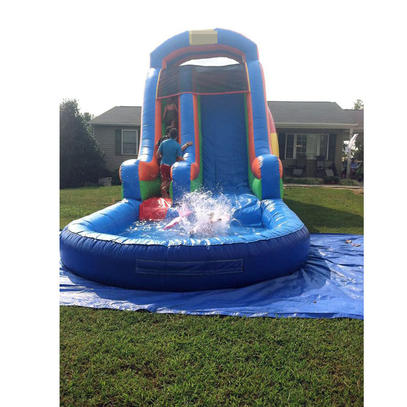 inflatable water slide with pool outdoor playground wet ...