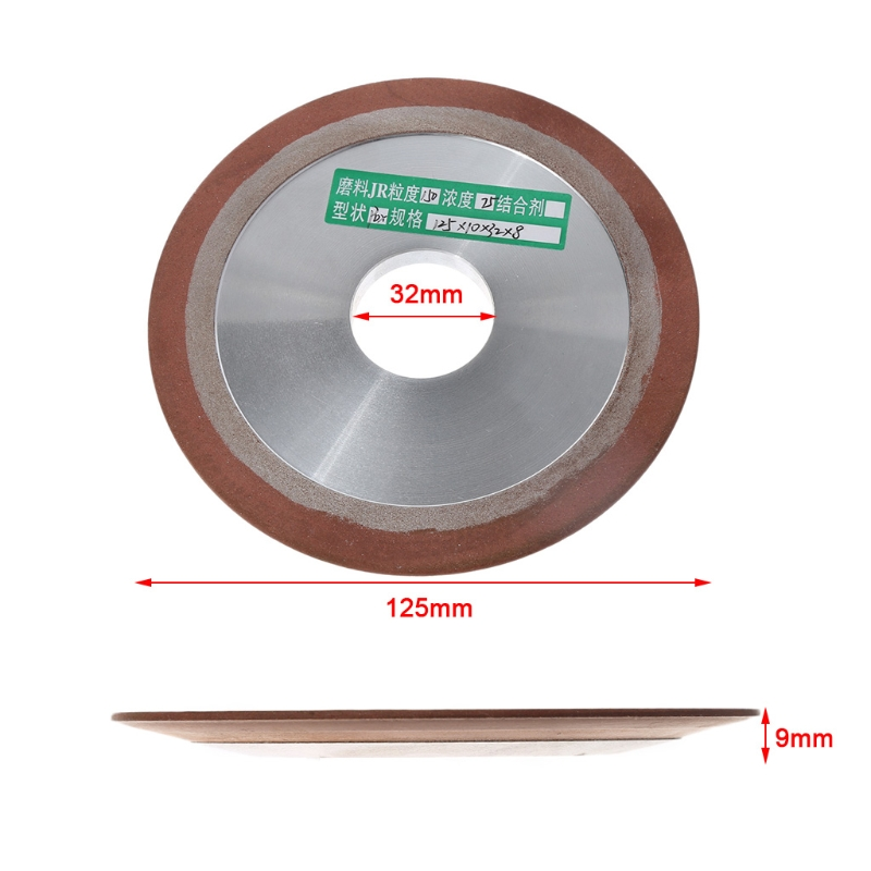 цена на OOTDTY Replacement 125mm One Tapered Side Plain Resin Diamond Saw Blade Grinding Wheel