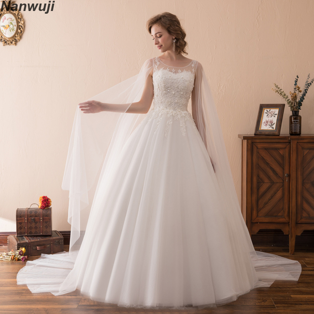 Luxury 2018 Ball Gown Wedding Dresses High Neck Sleeveless Detachable Skirt Plus Size Princess Bridal Gowns