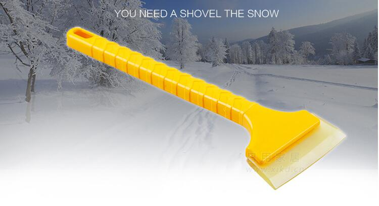 Car Vehicle Auto Snow Cleaning Remover Windshield Shovel Handheld Ice Scraper Snow Brush Car Ice Scraper Without Return Tools