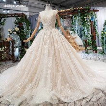 HTL530 special strapless wedding dress lace sleeveless lace up backless bride gowns vestidos de novia baratos con envio gratis(China)