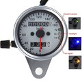 Motorcycle Steel Dual Odometer Speedometer Gauge Speed meter LED Backlight 3 Indicators For Harley Honda Kawasaki Suzuki Yamaha