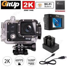 Бесплатная доставка! gitup Git2 Pro Беспроводной Wi-Fi 2 К Спорт helemet камера DV + двойной комплект зарядное устройство
