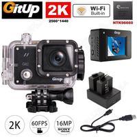 Gitup Git2 Helemet Pro Wireless WiFi 2 K ספורט פעילות המצלמה DV ערכת מטען + סוללה כפולה