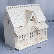 DIY Wooden Kids Dollhouse 3D Miniature Room Model Kit Children Educational Toy Child Handmade Craft Christmas Home Fun Gift New(China)
